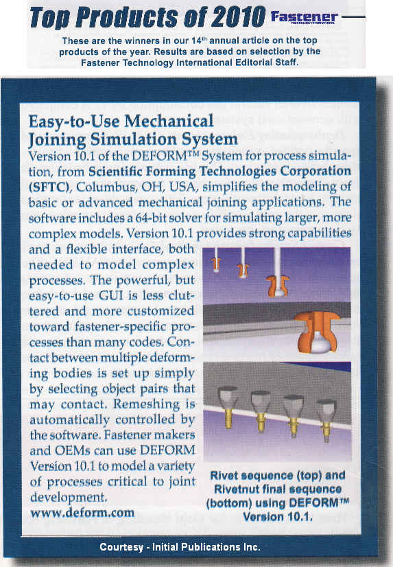 Fastener Technology International Magazine Editorial Award